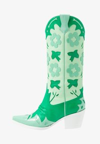 Jeffrey Campbell - LOONEY - Cowboy/Biker boots - green/white - 1
