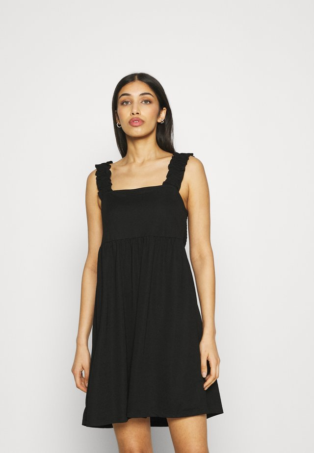 VISAFINA FRILL DRESS - Vestito estivo - black