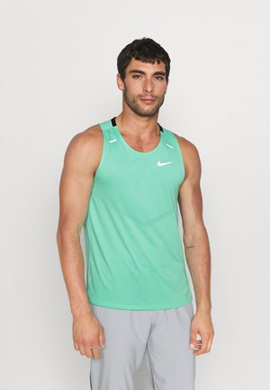 RISE TANK - Funktionströja - green glow/reflective silver