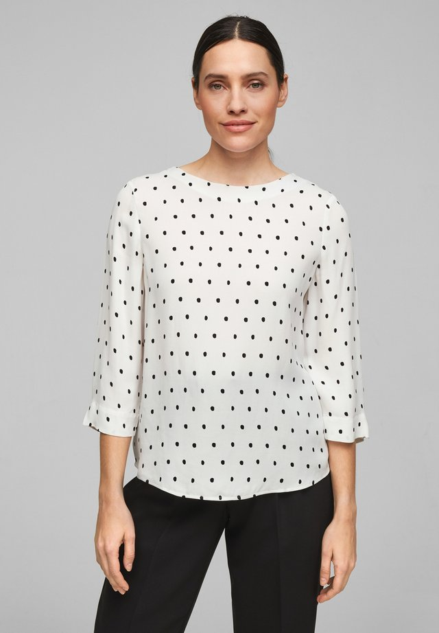 Bluse - soft white aop dots