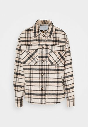 VIRUBI CHECK JACKET - Summer jacket - birch/black