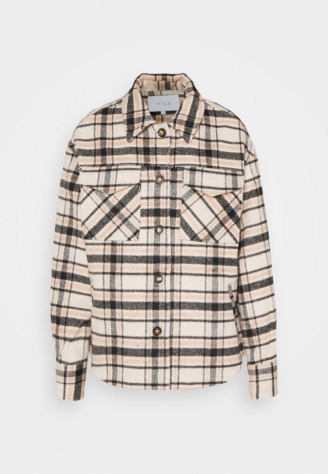 VIRUBI CHECK JACKET - Lett jakke - birch/black
