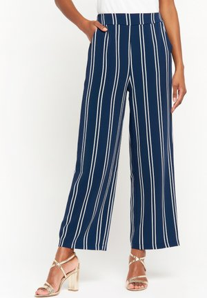 Trousers - navy blue