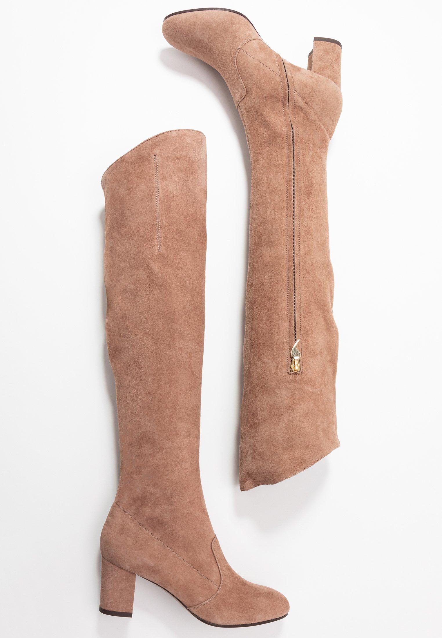 Overknee laarzen nude