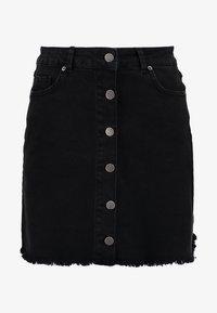TWINTIP - Mini skirt - black denim - 3
