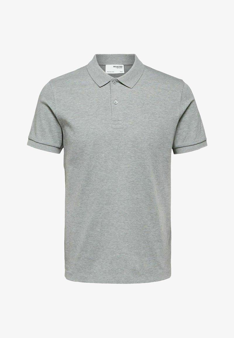 Selected Homme - Polo shirt - medium grey melange
