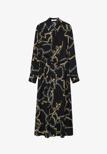 MIT KETTEN - Shift dress - schwarz