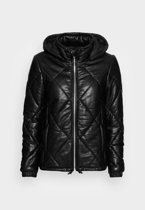 TEMPTATION - Leather jacket - black