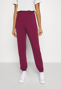 Missguided - BASIC - Tracksuit bottoms - burgundy - 0
