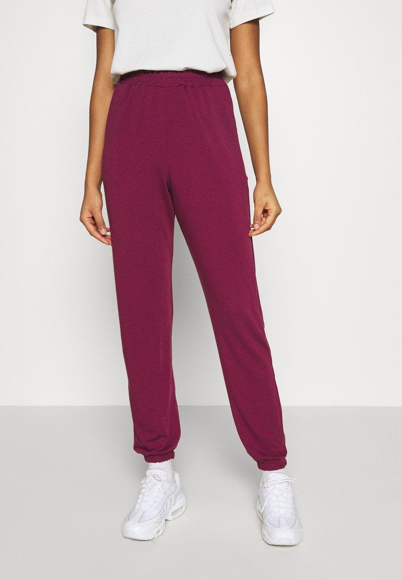 Missguided - BASIC - Tracksuit bottoms - burgundy