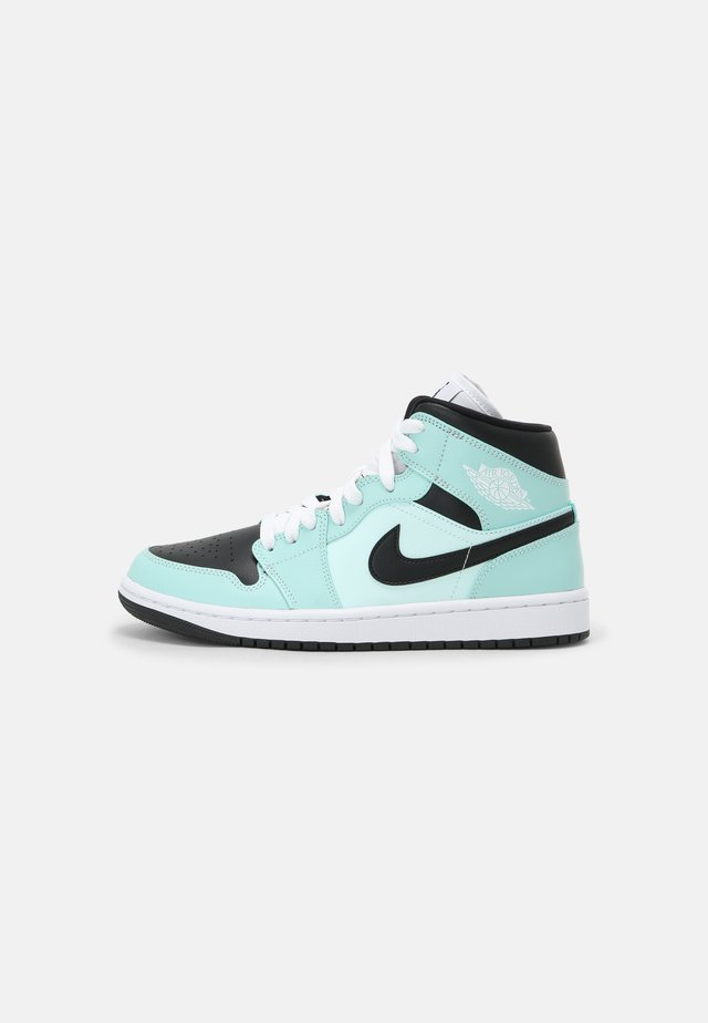WOMENS AIR 1 MID - Baskets montantes - light dew/black/teal tint/white