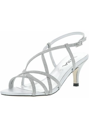 GLITZEROPTIK  - High heeled sandals - silber