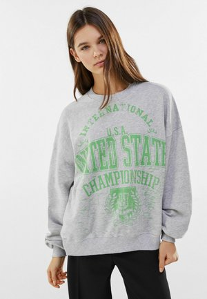 MIT PRINT USA  - Pullover - light grey