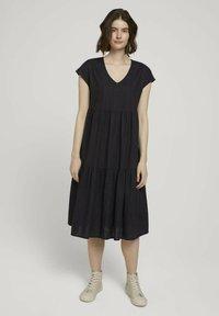 TOM TAILOR DENIM - Day dress - deep black - 0