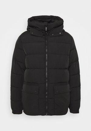 MID-LENGHT HOODED JACKET - Winter jacket - black