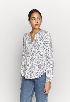 BYISOLE V NECK BLOUSE - Blůza - off white