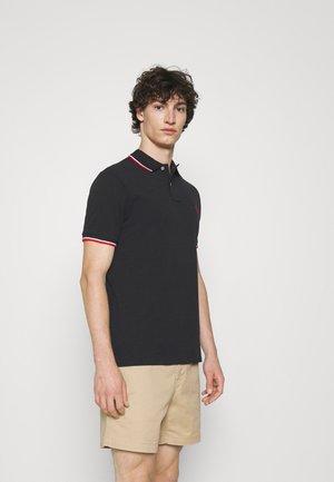 CUSTOM SLIM FIT MESH POLO SHIRT - Polo shirt - black