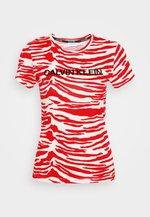 ZEBRA PRINT STRETCH TEE - Printtipaita - red/white