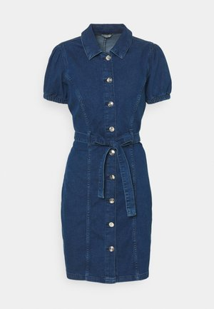 ONLVIBBE BELT DRESS - Denim dress - dark blue denim