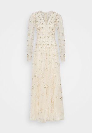 FRIEDA DISTY LONG SLEEVE GOWN - Vestido de fiesta - champagne