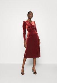 Closet - WRAP DRESS - Cocktail dress / Party dress - rust - 1