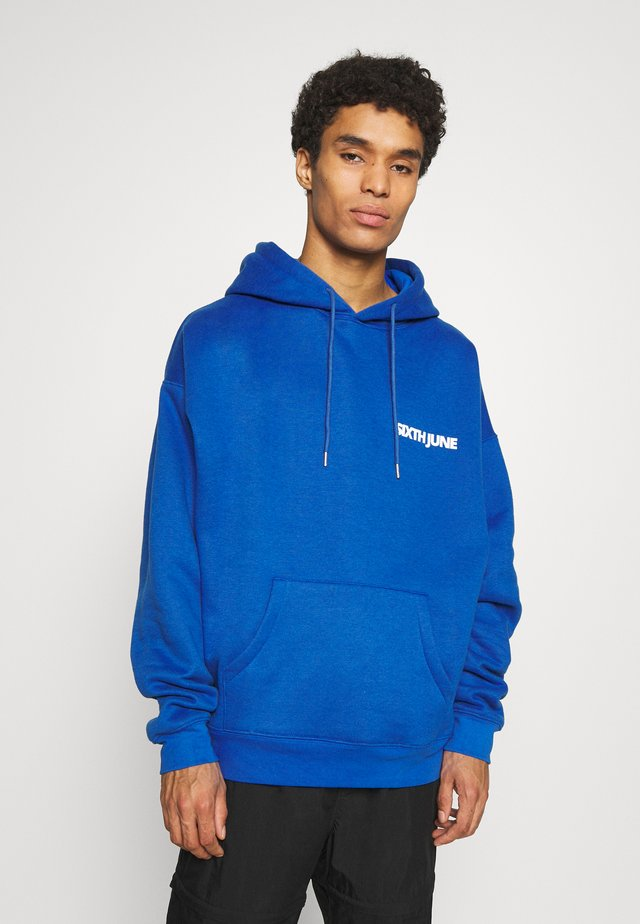 BASIC LOGO HOODIE - Sweat à capuche - blue