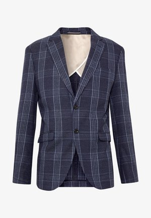 SLHSLIM KIM - Blazer jacket - dark blue/light blue