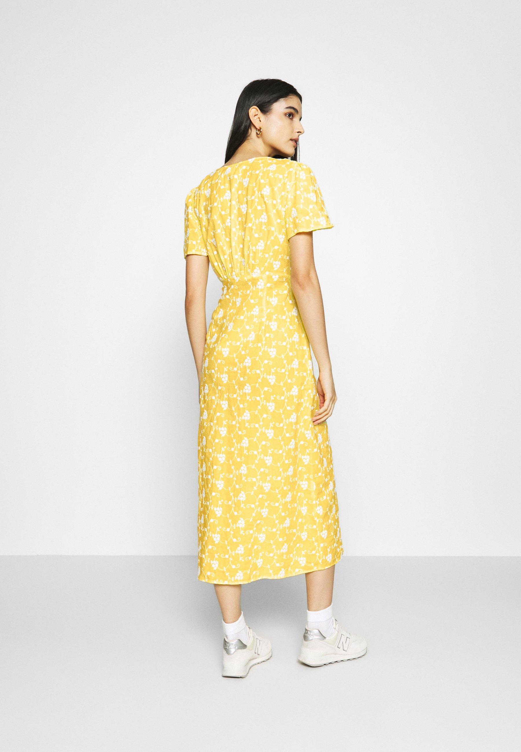 Ghost LILYBELLE DRESS Freizeitkleid yellow/gelb