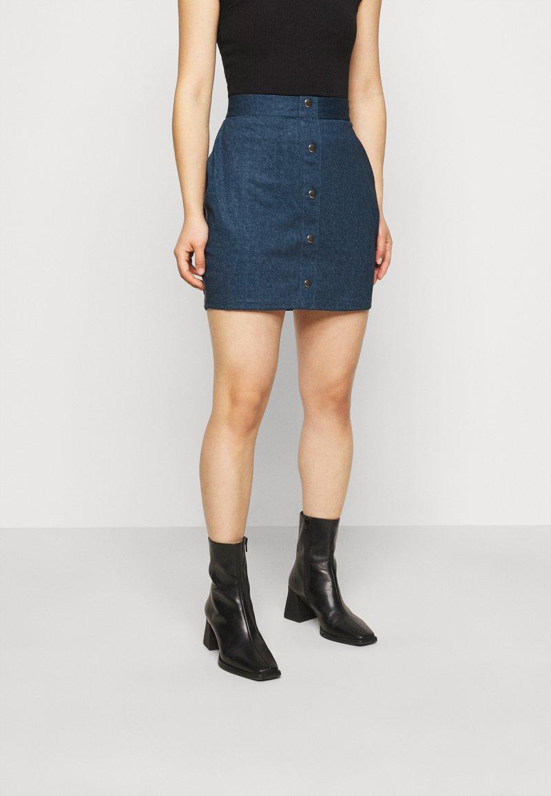 Even&Odd Petite - Pouzdrová sukně - dark denim