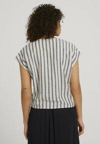 TOM TAILOR DENIM - Blouse - black beige stripe - 2