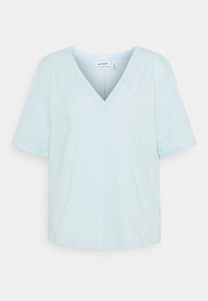 LAST V NECK - T-shirt basic - light blue
