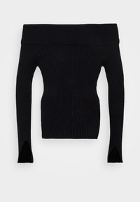Gina Tricot - OFELIA OFF SHOULDER - Jumper - black