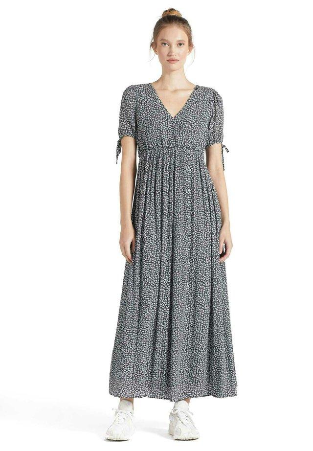 ABSENTA - Korte jurk - dunkelblau geblümt