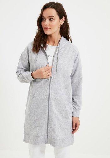 Felpa con zip - grey