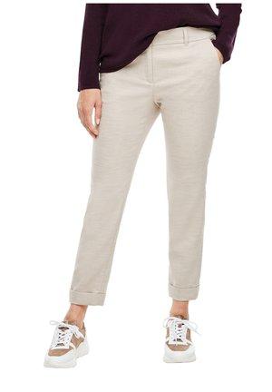 MIT UMSCHLAG - Trousers - beige