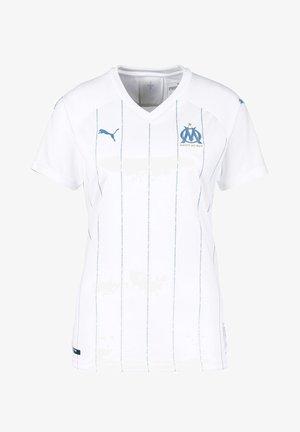 OLYMPIQUE DE MARSEILLE - Funktionströja - white-bleu azur