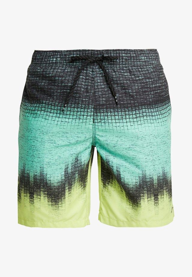 RESISTANCE - Swimming shorts - black/light green/yellow