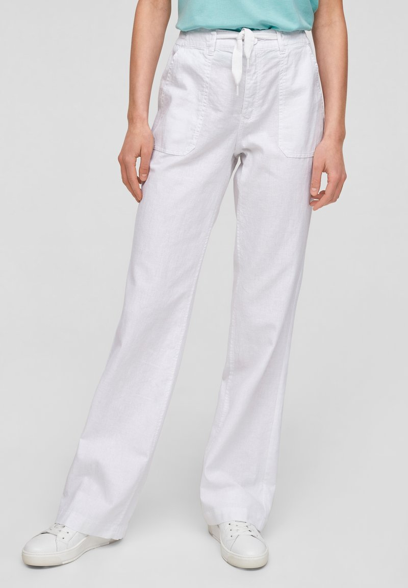 QS by s.Oliver - Trousers - white