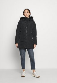 ONLY - ONLNEWMINEA QUILTED HOOD COAT - Parka - black - 0