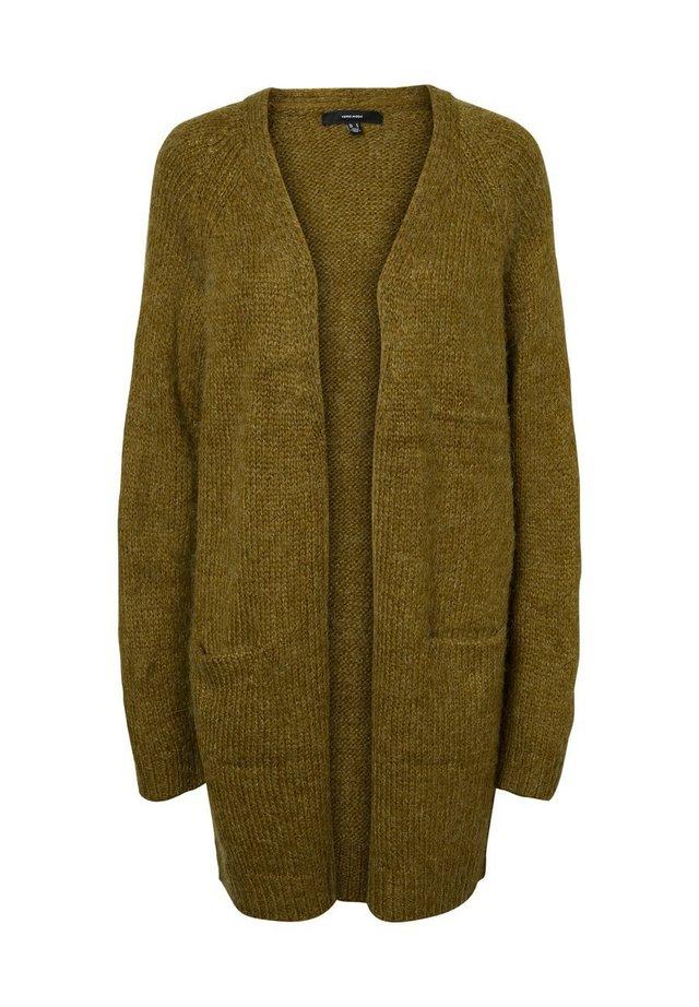 STRICKJACKE OFFENE - Cardigan - fir green
