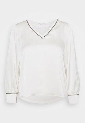 BLOUSE - Blouse - pearl white