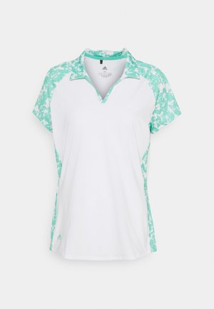 ULTIMATE 365 PRINTED SHORT SLEEVE  - Polo shirt - white