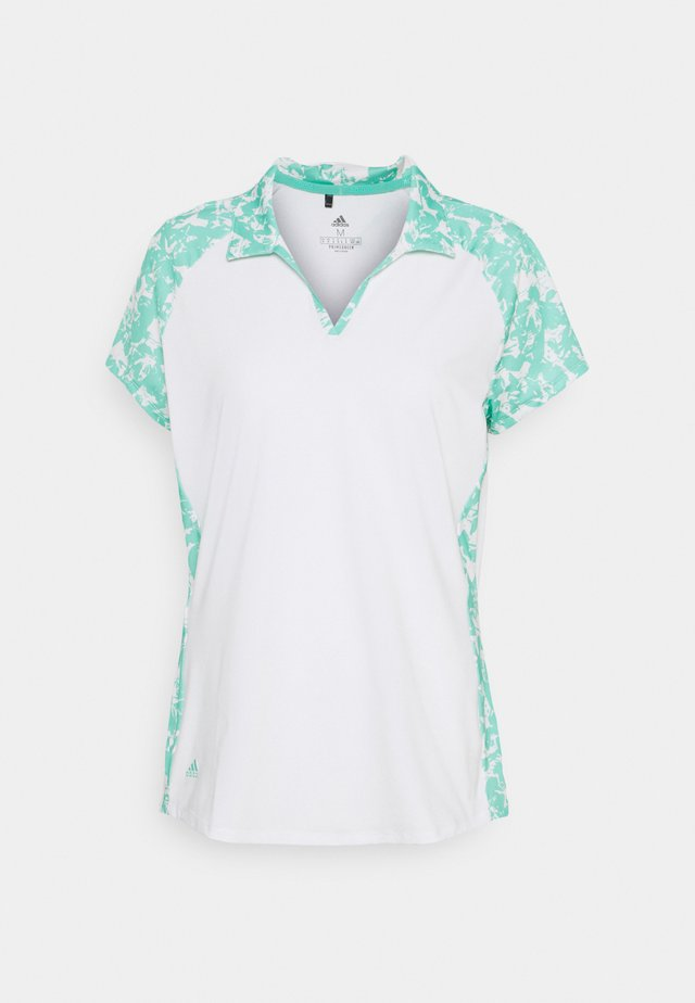 ULTIMATE 365 PRINTED SHORT SLEEVE  - Polo - white
