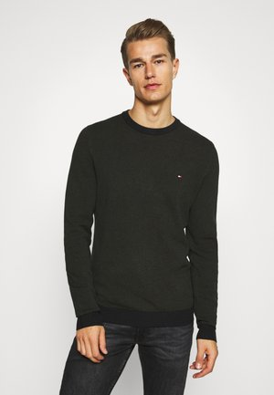 MOULINE STRUCTURE CREW NECK - Stickad tröja - green