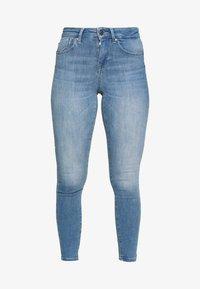 ONLY Petite - ONLPOWER MID PUSH UP  - Skinny džíny - light blue denim - 3