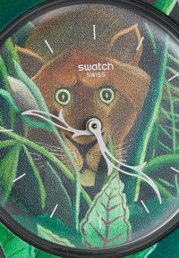 Swatch - THE DREAM BY HENRI ROUSSEAU THE WATCH UNISEX - Klocka - green - 5