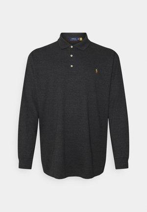 LONG SLEEVE - Polo shirt - black marl heather