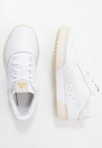 adidas Golf - ADICROSS RETRO - Golf shoes - footwear white/gold metallic/crystal white - 1