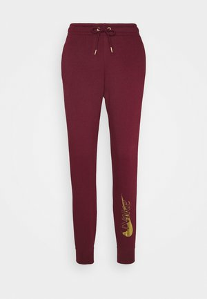 PANT - Joggebukse - dark beetroot/metallic gold