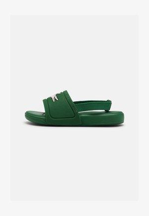 SLIDE UNISEX - Sandály do bazénu - green/white